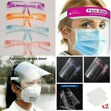 1 × 2 × 3 × 4 × 5 × 10 FULL FACE COVERING ANTI-FOG SHIELD CLEAR GLASSES SAFETY