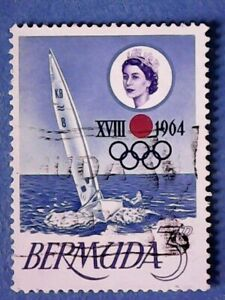 Bermuda. QE2 1964 3d Olympic Games, Tokyo. SG183. Wmk Ww12. P14 x 13½. Used.