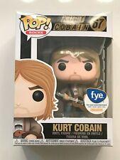 Funko Pop Vinyl Rocks 67 Kurt Cobain (Tan Sweater) Fye Exclusive Nib w/Protector