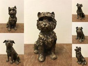 Leonardo Realistic Bronze Effect Dog Breed Bronzed Ornaments Gift Boxed Present