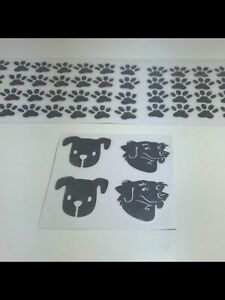 Dog Paw Dog Face Vinyl x 60 Decals Decoration Craft Christmas Bauble