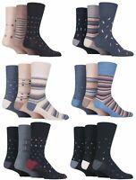 SockShop Gentle Grip Mens 6 Pairs Cotton Non Elastic Top Diabetic Socks UK 6-11