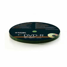 10 x TDK DVD-R Blank Recordable Discs 4.7GB 16x 120 min In Shrink Wrap - NEW