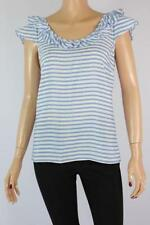 Polyester Dry-clean Only Casual Striped Tops & Blouses for Women