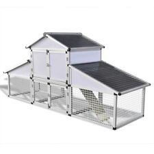 2.5m Poultry Chicken Hen Chicks Aluminium Coop Nesting Egg Box Cage Enclosure