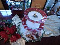 riesige Etagere Tafelaufsatz 3stufig Villeroy & Boch Toys Fantasy Weihnachten