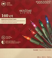BRAND NEW MultiColor Chaser Lights Holiday Living Chasing Lights 150 Ct