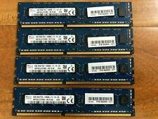 Lot of 4 662609-571 16GB 4x4GB PC3-12800E HMT351U7CFR8C-PB ECC Unbuffered RAM