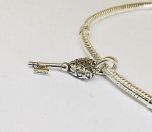 Regal Schlüssel Sterling Silber Armband Charm s925 Moment 21 Geburtstag Geschenk