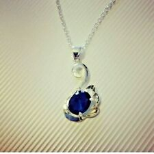 Swan Necklace New Blue Silver Jewellery