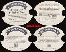 4 CREEMORE SPRINGS BREWERY BEER MATS COASTERS SOUS-BOCKS BIERDECKELS #A