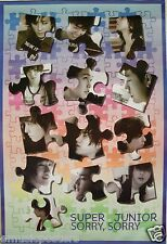 """SUPER JUNIOR """"SORRY SORRY - BAND'S FACES IN PUZZLE PIECES"""" ASIAN POSTER - K-Pop"""