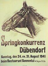 Original Plakat - Springkonkurrenz Dübendorf