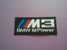 MOTORSPORTS RACING CAR VAN TRUCK SEW ON & IRON ON PATCH:- BMW M3 POWER