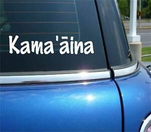 KAMAAINA KAMA'AINA HAWAII PRIDE OAHU MAUI DECAL STICKER FUNNY CAR TRUCK