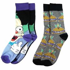 Official The Simpsons Krusty the Clown Assorted Socks (2 Pairs) - One Size