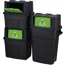 Stackable Indoor Recycling Garbage Bin Waste Trash Can BLANK LABEL for Sorting