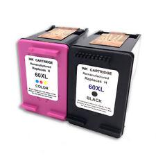 2 Pack 60XL Ink Cartridge Combo For HP 60 Photosmart D110a F2480 F2430 Printer