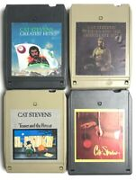 Lot Of 4 Cat Stevens 8 Track Tapes Buddha/ Izitso/ Teaser Firecat/ Greatest Hits