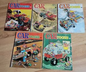 5 Vintage CARtoons Magazine Comic Books