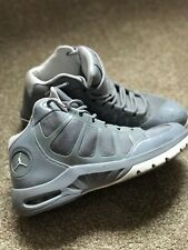 Men's JORDAN grey high top sneakers, PLAY IN THESE F TXT, Sz 11