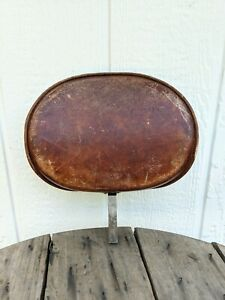 """Vintage Corbin Seat Harley Backrest Oval 11"""" x 8"""" with 5/8"""" Post"""