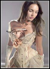 Megan Fox, Autographed, Pure Cotton Canvas Image. Limited Edition (MF-2)