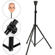 New Adjustable Wig Head Stand Mannequin Tripod Holder Hairdressing Training TP