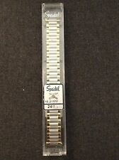Brand New Speidel Twist-O-Flex 16-21mm Yellow And Silver Expansion Band
