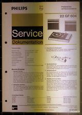 PHILIPS Service Dokumentation 22 GF 604, 11/1970, original + komplett