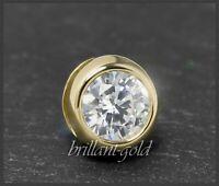 Diamant 585 Gold Anhänger, Lupenreiner 0,62ct Brillant, Weißgold Gleiter/Reiter
