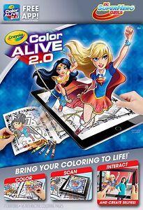 Crayola Colour Alive 2.0 (Color Alive 2.0) - DC SuperHero Girls