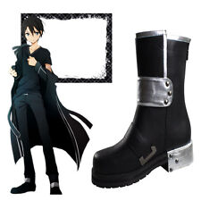 Popular Anime High Quality Sword Art Online Kirito Cosplay Shoes Halloween Boots