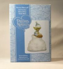 "Precious Moments (990017) Girl On Sled Musical Plays ""Jingle Bells"" Original Box"