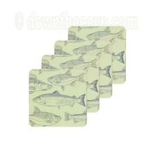 Kitchen Craft Drinks Coasters x 4 - Traditional Fish Design - Fish Coasters