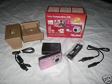 Rollei Compactline 200 Pink, 12 MPIX Digitalkamera, 4GB SDHC, 2 Jahre Garantie