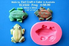 Frog Silicone Mould Cake Decorating Gum Paste Sugar Cupcake Topper