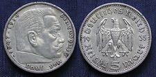 MONETA COIN GERMANIA GERMANY THIRD REICH 5 MARKS 1935.A HINDEMBURG SILBER  #2