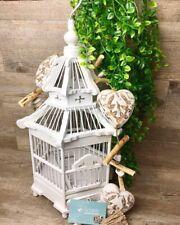 Vintage Style White Decorative Wooden Bird Cage, Wedding decor, Wishing well