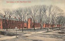 YALE UNIVERSITY CAMPUS IN 1861 NEW HAVEN CONNECTICUT POSTCARD (c. 1910)