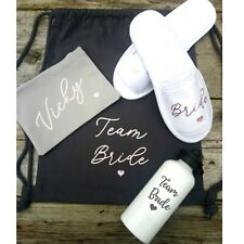 Hen party package bridesmaid gifts wedding day slippers, make up bag, bottle