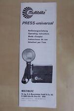 """Multiblitz Bedienungsanleitung """"Press-Universal"""" - Mehrsprachig / Multilingual"""