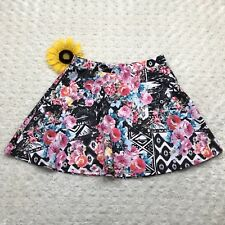 Aeropostale Womens A-Line Skirt Size M Stretch Multi Color Floral Pattern hr3456
