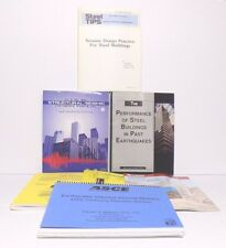 Lot of 7 ASCE FEMA USGS AISI SEA Engineering Books, Structures in Earthquakes