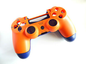 Controller Gehäuse Cover Case front orange back blau Mod Kit JDM-040 für PS4 Pro
