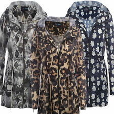 Polyester Floral Outdoor Coats & Jackets for Women
