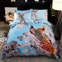 3D Orange Peacock ZHUA403 Bed Pillowcases Quilt Duvet Cover Set Queen King Zoe