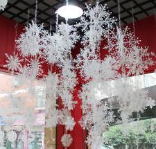 30x Schneeflocken 11cm Snowflakes Weihnachtsbaumdeko Christbaumschmuck Aufhängen