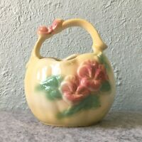 Vintage Hull USA Pottery Sunglow Basket Bowl Vase Planter #84 Mothers Day Gift