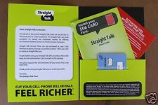 Straight Talk NANO SIM Card Activation Kit AT&T GSM Phones w/ Delivery Tracking